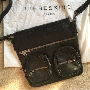 Liebeskind Berlin Anny Black Cross-body Bag Purse